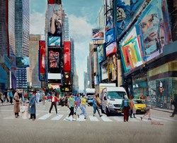 New York in Motion by Torabi - Original Painting on Box Canvas sized 59x48 inches. Available from Whitewall Galleries
